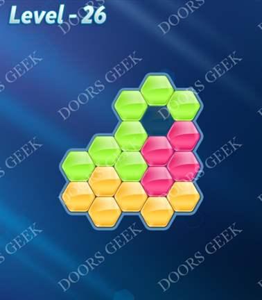 Block! Hexa Puzzle [Rainbow A] Level 26 Solution, Cheats, Walkthrough for android, iphone, ipad, ipod