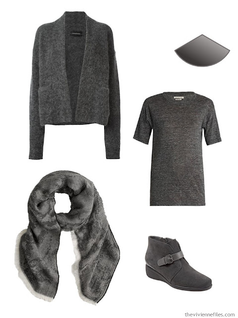 Grey capsule wardrobe clothing items