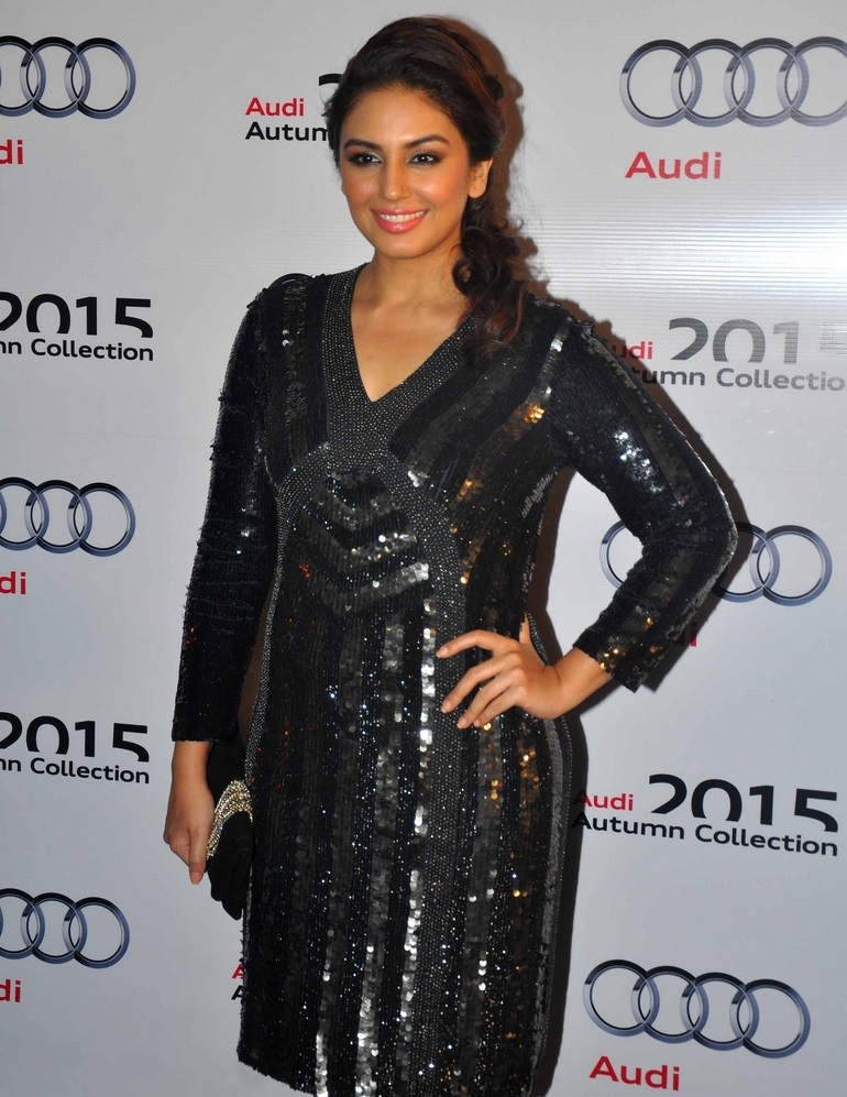 Bollywood Model Long Legs In Black Dress Huma Qureshi