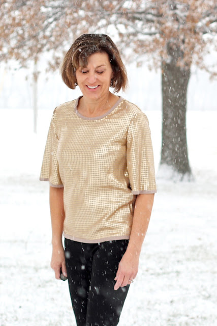 Butterick 6175  from Style Maker Fabrics' Sequin Knit