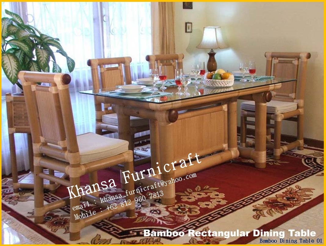 ... Furniture 34 Indonesian Bamboo Bamboo Dining Room ...