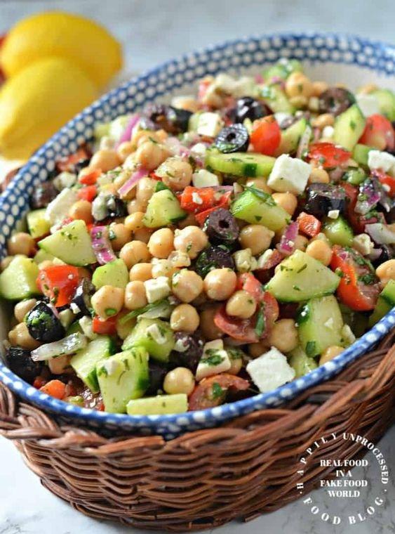 Mediterranean Chickpea & Feta Salad