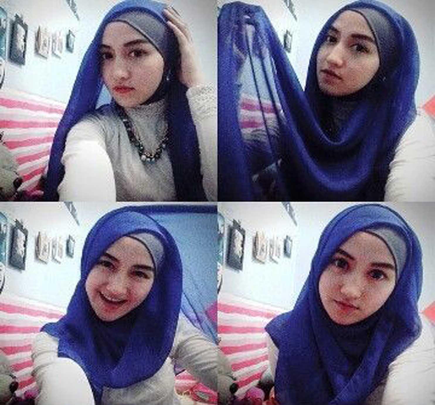 89 Gambar Terupdate Tutorial Hijab Segi Empat Yang Modis Untuk