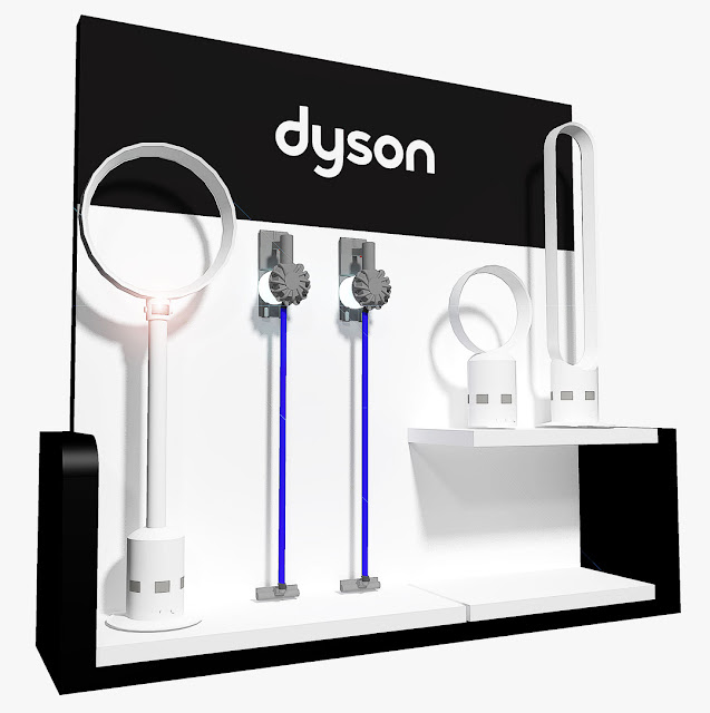 Product Display Showcase Rack Design - Dyson
