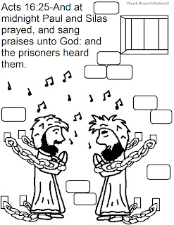Church House Collection Blog: Paul and Silas In Jail Coloring Pages