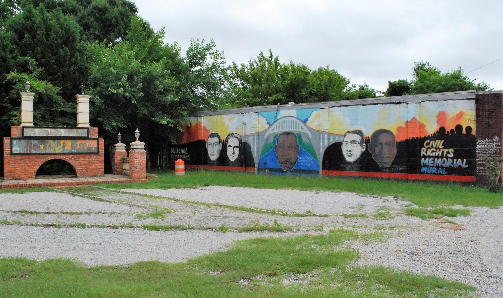 Bar None Group Civil Rights Memorial Mural Outside Selma Alabama