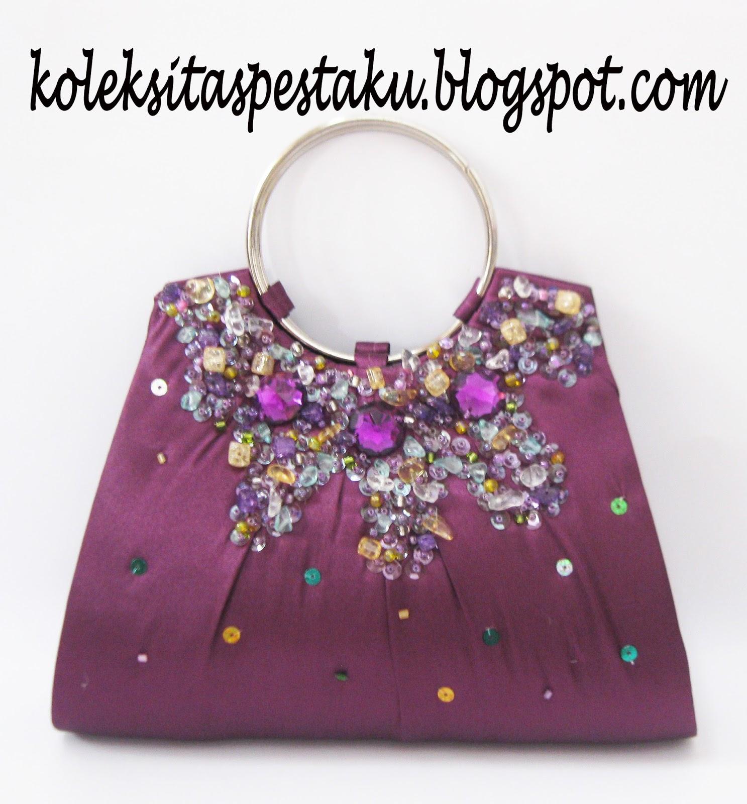 Tas Pesta - Clutch Bag  taspestaku  Jual Handmade Tas Pesta Ungu ... 19d7965181