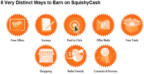 Multiple ways to earn with squishy cash