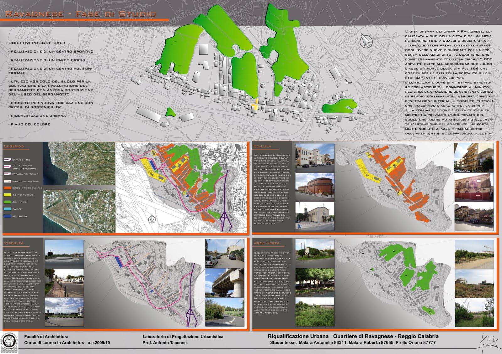 Laboratorio di progettazione urbanistica ataccone for Progetti architettura on line