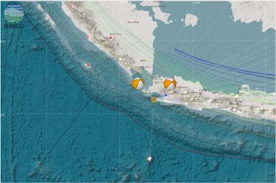 BMKG Catat 20 Gempa Susulan dan Berpusat di wilayah Samudera Hindia Selatan Jawa