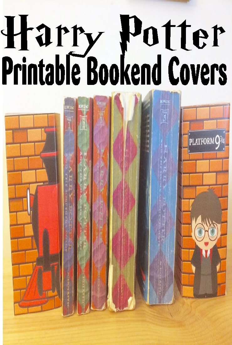 Harry Potter Book Cover Printables : Organize your bookshelf with these printable harry potter