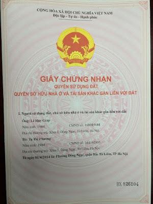 Sổ đỏ chung cư mini Hanoiland