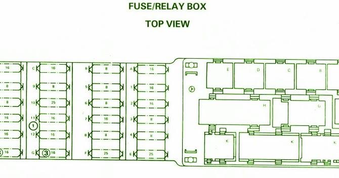 Fuse Box Diagram Mercedes W124 ETM 19861992 ~ Mercedes Fuse Box Diagram