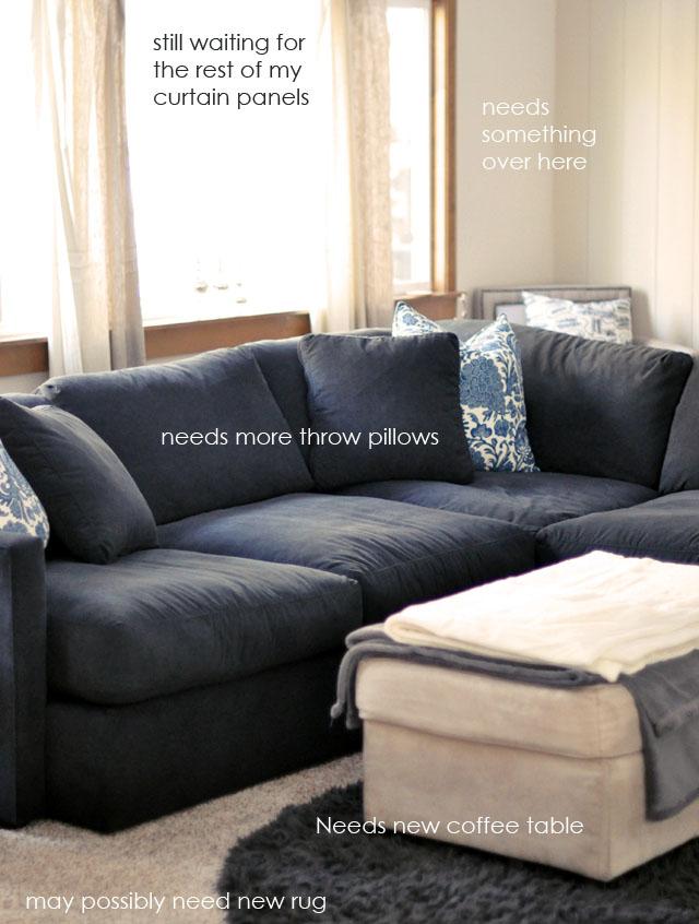 rustic modern traditional dark sectional sofa