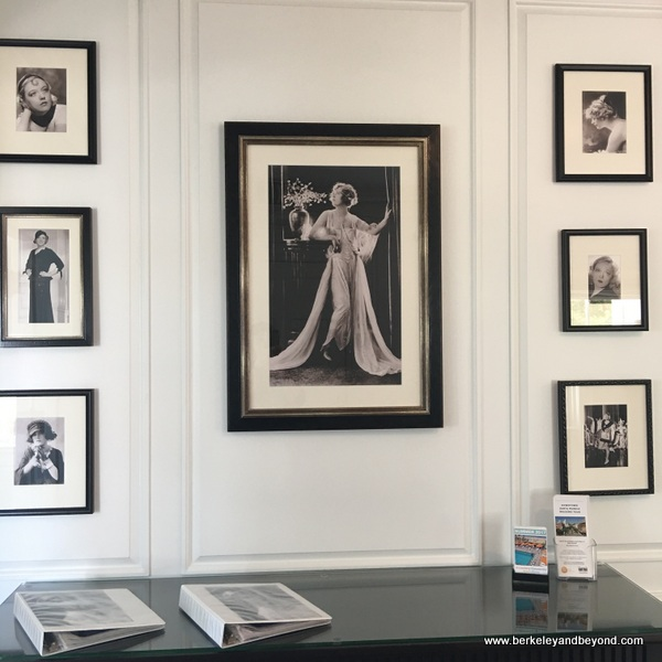 historic photos of Marion Davies at Marion Davies Guest House at Annenberg Community Beach House in Santa Monica, California