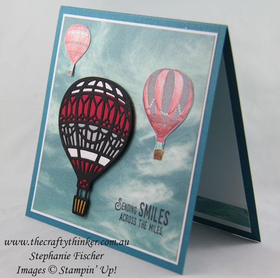 Lift Me Up Bundle, Serene Scenery DSP, Balloon, #thecraftythinker, Stampin Up Australia Demonstrator, Stephanie Fischer, Sydney NSW