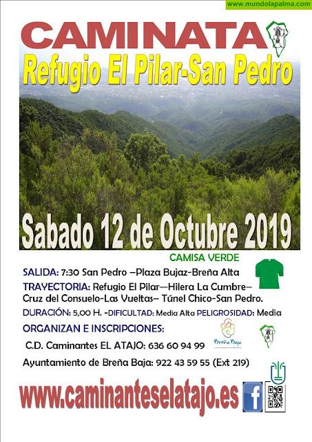 """EL ATAJO: """"Refugio del Pilar - San Pedro (Breña Alta)"""""""