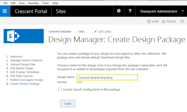 create a design package in sharepoint 2016