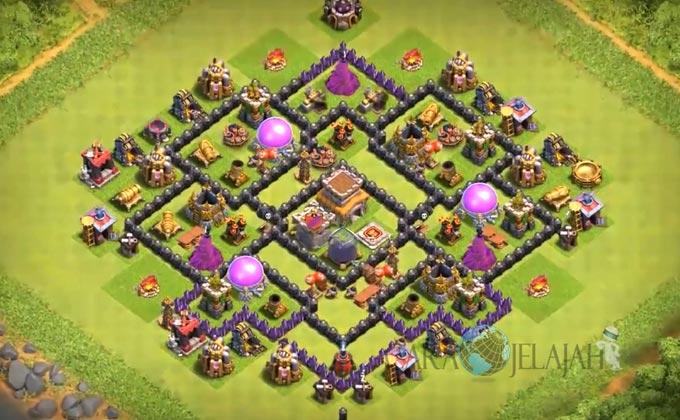 Base Farming TH 8 Clash Of Clans Terbaru 2017 tipe 5