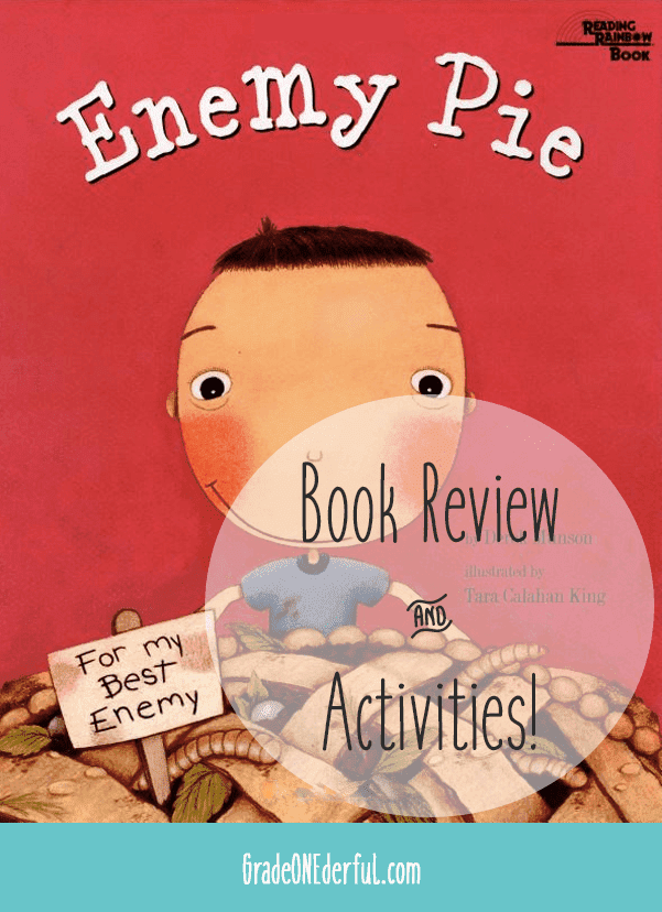 Enemy Pie Book Review. A perfect book for K to 4th Grade. All about learning how to deal with a bully. Love this book!