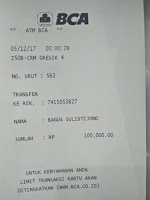 bukti transfer travel surabaya