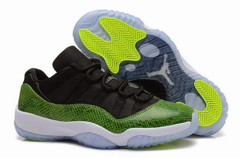 "sports shoes 6a8fb bd88d Air Jordan 11 Low ""Green Snake"" Color  Black Nightshade-White-Volt Ice  Style Code  528895-033. Release Date  04 19 14. Price   150"