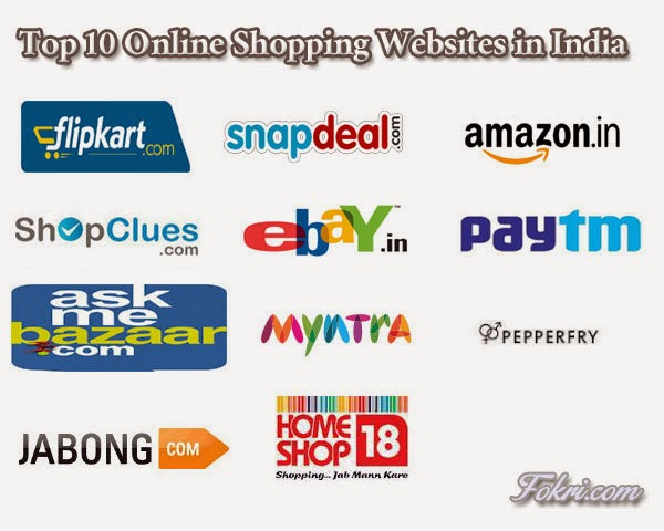 Top 10 online shopping websites in India 2015 - Fokri.com