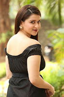 Mannara Chopra in Short Off Shoulder Black Dress ~  Exclusive 043.JPG