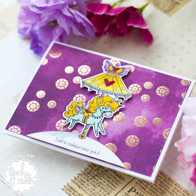 Watercolor Foil Card
