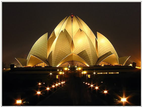 Bahai House of worship or lotus temple