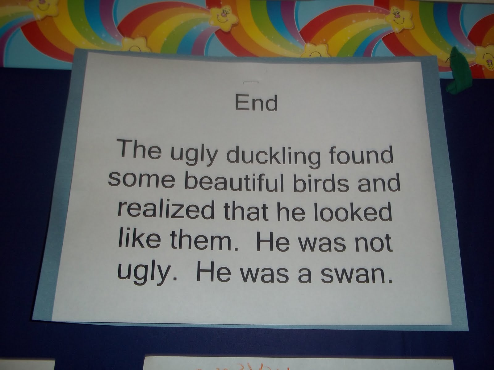 Mrs Wood S Kindergarten Class Ugly Duckling
