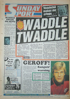 Backpage of the Sunday Sport newspaper from 3rd May 1987
