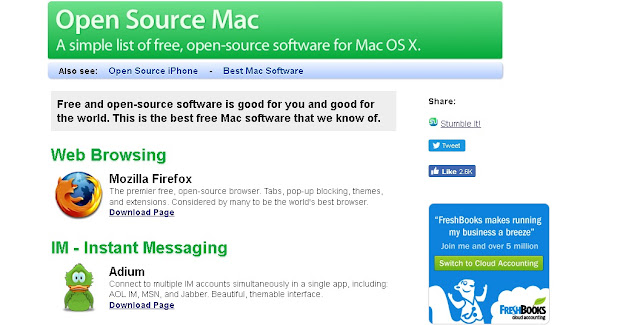 image of Open Source Mac website