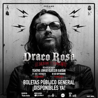 Concierto de ROBI DRACO ROSA en Bogota 2018