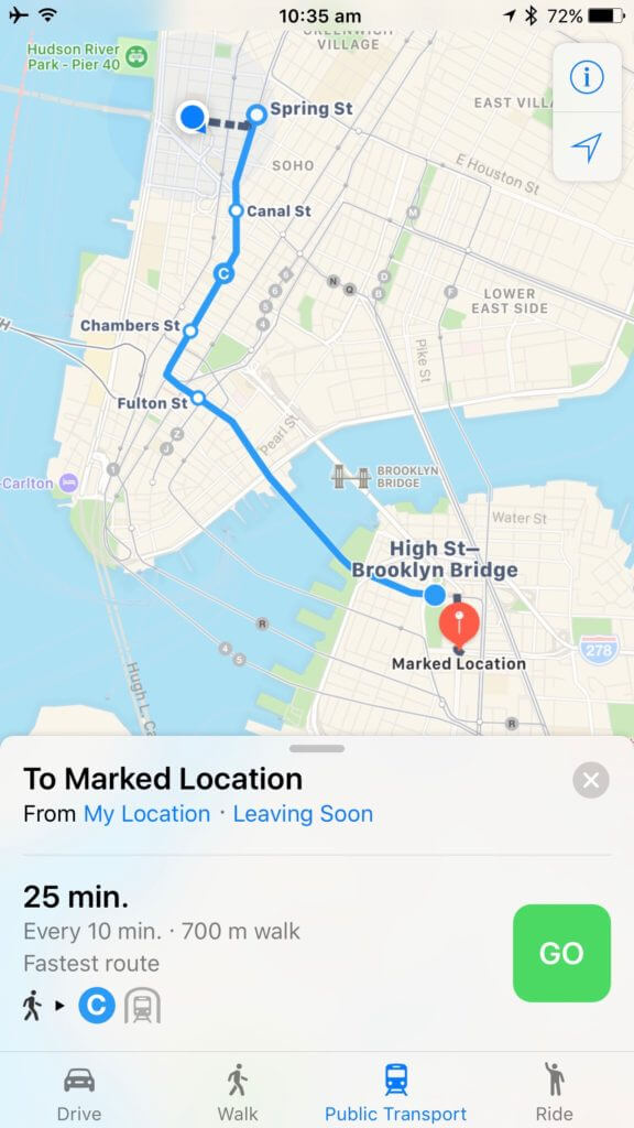 directions-maps-ios10-576x1024%2B%25281%2529 How to exclude vehicles from the public transport system route in Maps Technology
