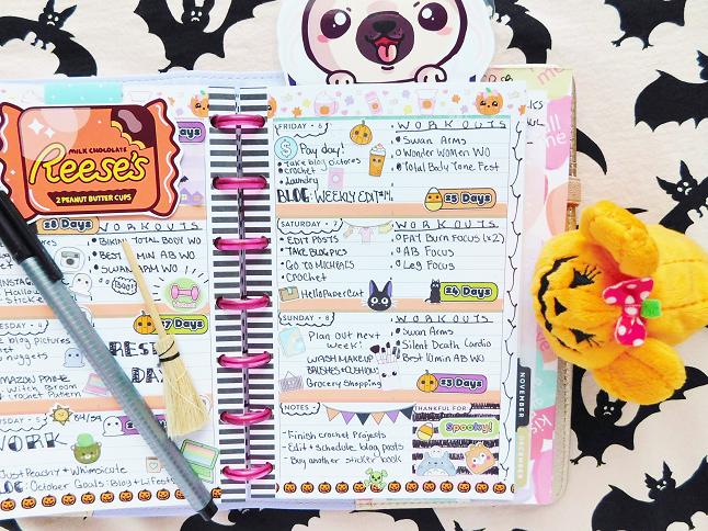 Pumpkin Spice Planner Spread