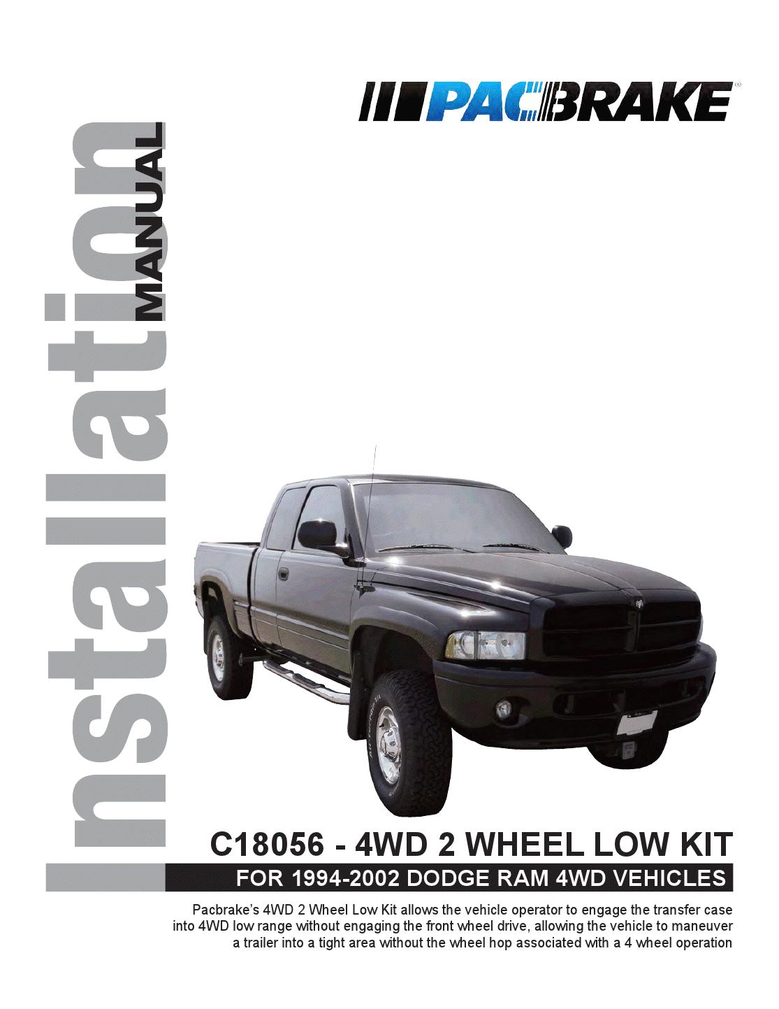 1994-2002 DODGE RAM 4WD VEHICLES