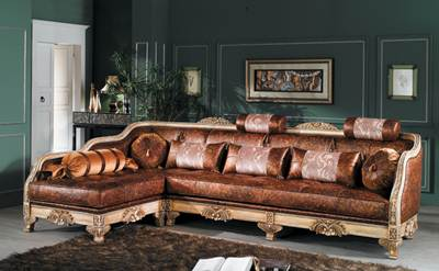 sofa sudut ukir jepara