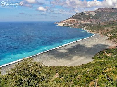 spiaggia nera Nonza Corsica