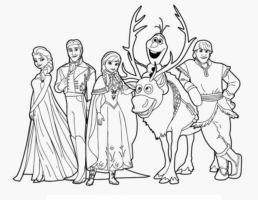 Kumpulan Mewarnai Gambar Frozen Halaman Mewarnai Anak