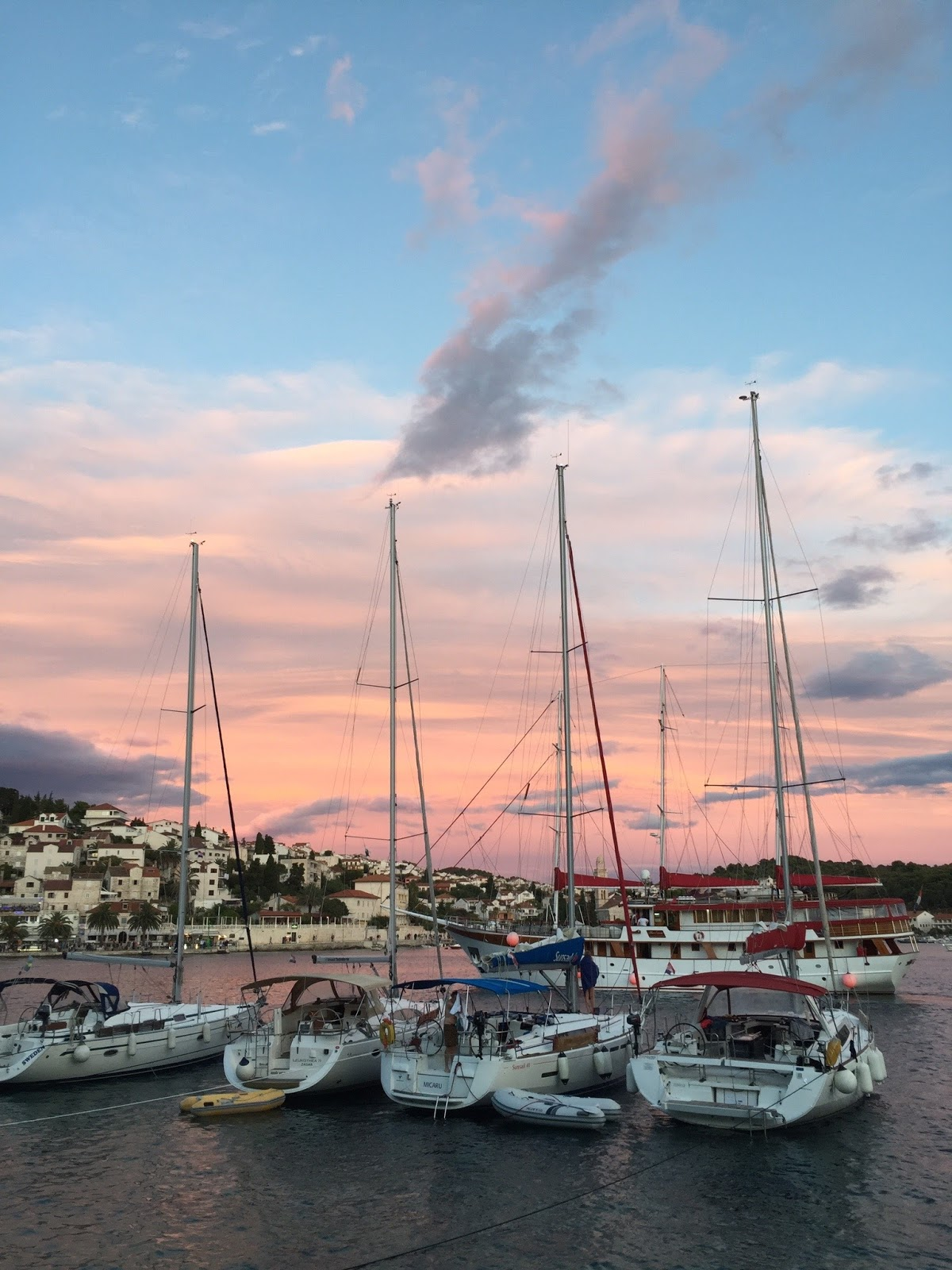 Hvar Croatia Sunset, Croatia Harbor, Where to travel in Croatia