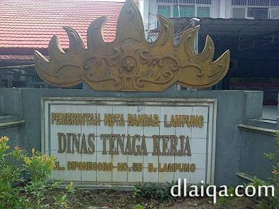 Dinas Tenaga Kerja Pemkot Bandar Lampung
