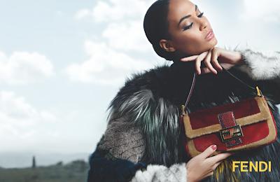 Fendi's Fall/Winter 2012-13 Ad Campaign Joan Smalls Baguette