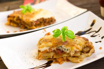 Lasagne alla casa - mit Kürbis und mit Bolognese