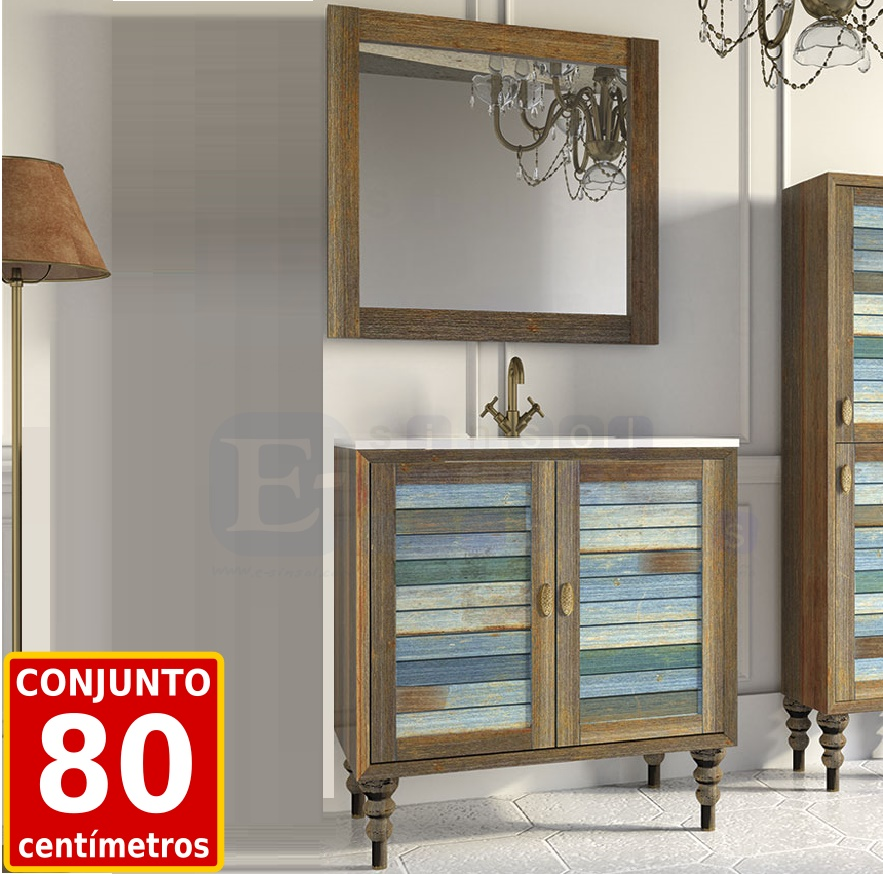 El blog del ba o mueble de ba o vintage old years retro y color - Mueble bano vintage ...