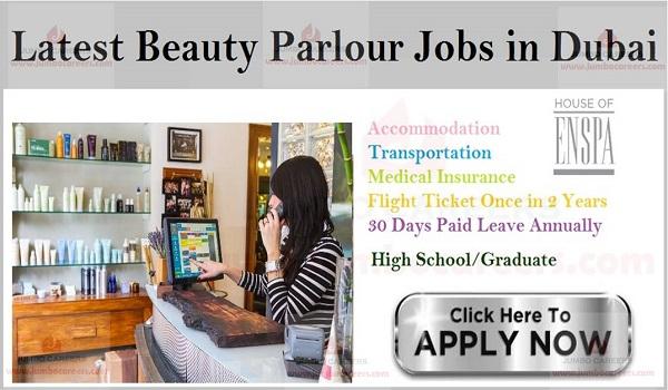 10th pass jobs in Dubai beauty parlour, Female jobs in Dubai,