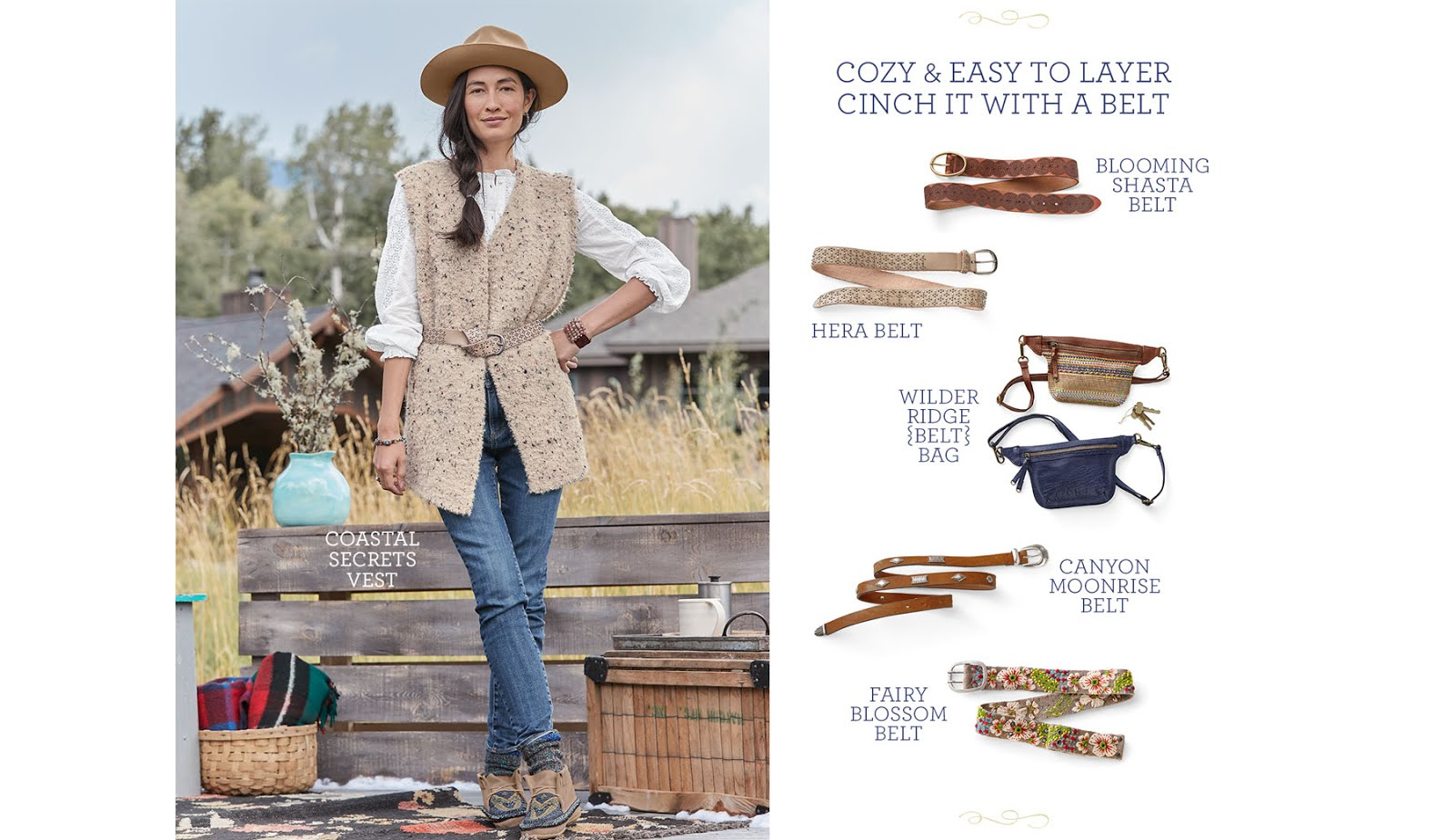 sundance catalog belts and vests