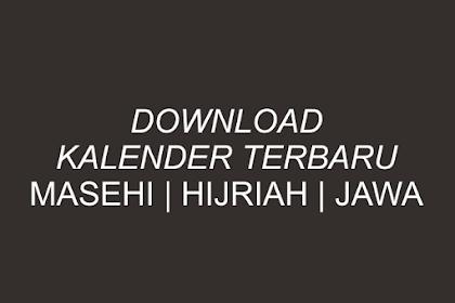 Download Gratis Desain Kalender 2019 Masehi, Hijriah dan Jawa