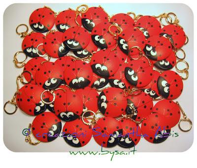 Coccinelle portachiavi  bomboniere originali