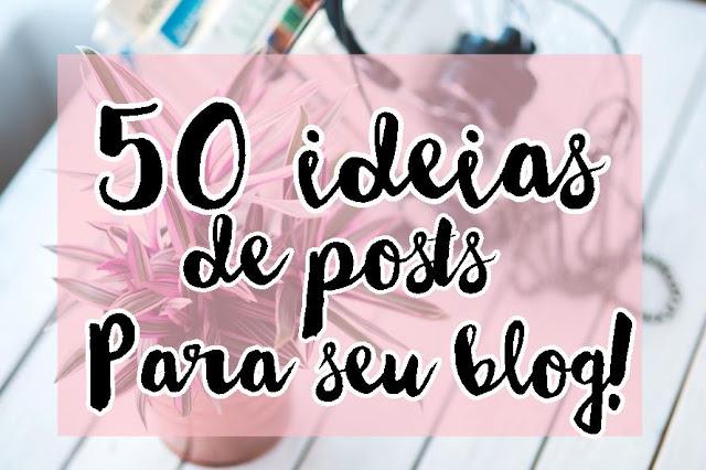 Ideias de posts para seu blog